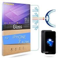 MADALY for APPLE iPhone 7 4.7吋 高透高抗藍光白水晶鋼化玻璃保護貼