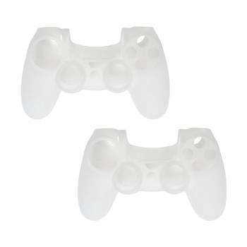 PS4 DUALSHOCK 4 無線控制器專屬果凍套 (透白 二入組)