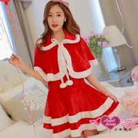 天使霓裳 聖誕服 氣質蛋糕裙派對角色扮演服(紅F) CG90026