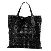 【ISSEY MIYAKE 三宅一生】BAOBAO鏡面方格10x10手提包(黑)
