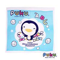 PUKU藍色企鵝 四方浴巾-90*90cm-水色