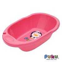 PUKU藍色企鵝 卡哇伊浴盆L粉色