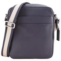 COACH LOGO 新款壓印男士素面皮革斜背包(4色選)
