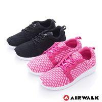 【美國 AIRWALK】 比麗 蜂巢式格紋洞洞休閒慢跑鞋 -女- 共二色