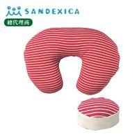 台灣總代理 日本Sandexica【母嬰兩用枕】多功能哺乳枕/寶寶學坐枕-子母枕 【FA0004】
