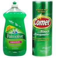 [美國 Palmolive]棕欖濃縮洗碗精(52oz/1530mlx3)+[美國 Comet]萬用強力去污粉-原始香味(21oz/595g)x3