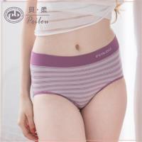【PEILOU】貝柔超彈力無縫機能抗菌中腰三角褲(紫)