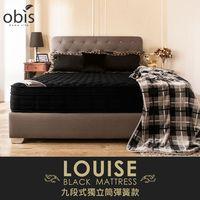 【OBIS鑽黑系列】三線九段式獨立筒無毒床墊-雙人5尺