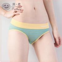 【PEILOU】貝柔超彈力無縫機能抗菌低腰三角褲(黃綠)