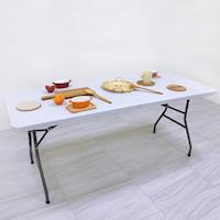 【頂堅】寬180公分-對疊折疊桌/書桌/電腦桌/餐桌/工作桌/野餐桌/拜拜桌