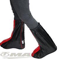 天龍牌超跑賽車型雨鞋套-紅黑