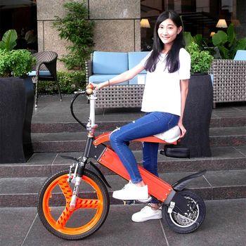 山久親子電動輔助摺疊自行車(都會情人)
