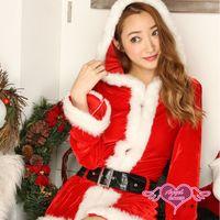 天使霓裳 耶誕服 經典歡樂 長袖聖誕舞會角色扮演服(紅F) CK89147