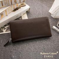 Roberta Colum - 經典品味鹿紋牛皮單拉鍊手拿包-共3色