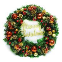 20吋豪華高級聖誕花圈(紅金色系)(台灣手工組裝出貨)