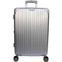 YC Eason 麗致24吋PC髮絲紋可加大行李箱-銀色