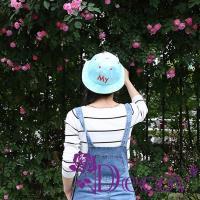 【Decoy】真心話語*繽紛色彩漁夫帽/藍
