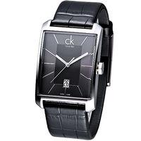 cK Window 櫥窗系列線條設計腕錶-黑(大)K2M21107
