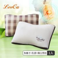 LooCa升級版-蠶絲乳膠負離子健康獨立筒枕(1入)-12月活動