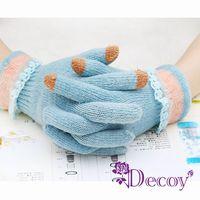 【Decoy】花邊蕾絲*觸控針織手套/三色可選