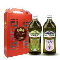 法奇歐尼 富貴禮盒-經典特級冷壓初榨橄欖油+莊園葡萄籽油 1000ml/瓶