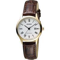 ORIENT 東方錶 優雅復刻羅馬石英女錶-白x金框/28mm FSZ3N009W