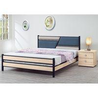 【時尚屋】[5U7]凱弟貓抓皮6尺加大雙人黑鐵床5U7-134-460不含床頭櫃-床墊
