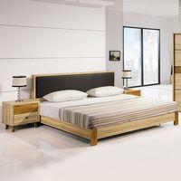 【時尚屋】[5U7]瑪莎栓木色6尺床片式床台5U7-12-61不含床頭櫃-床墊