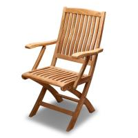 BROTHER 兄弟牌印尼柚木古典扶手折疊椅