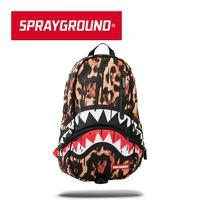 SPRAYGROUND DLXX 系列 Leopard Drips 豹紋鯊魚潮流筆電後背包