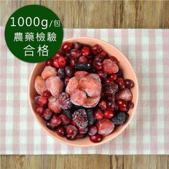 幸美生技 醋栗系列冷凍莓果6包(1kg/包 口味任選 黑醋栗/草莓/紅櫻桃/桑椹)
