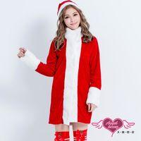 天使霓裳 耶誕服 寒冬獻禮 聖誕舞會角色扮演長版連身衣(紅F) KR2838