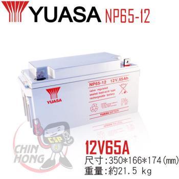YUASA湯淺NP65-12閥調密閉式鉛酸電池12V65Ah