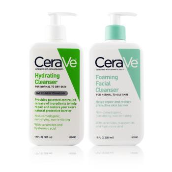 CeraVe 絲若膚 泡沫潔膚凝膠 355ml + 保濕潔膚露 355ml   (公司貨)