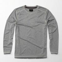 A  F 2017男經典輕質棉深灰色圓領長袖ㄒ恤(預購)