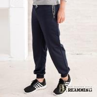 【Dreamming】韓風拉鍊口袋休閒運動棉褲(共三色)