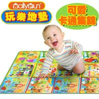 【Wally Fun】 嬰兒玩樂爬行墊 (可愛卡通集錦)