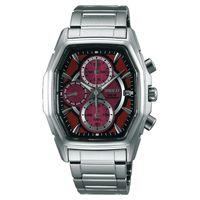WIRED SOLAR 疾風飆速太陽能計時腕錶-紅/37mm V176-0AJ0R(AY9003X1)