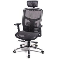 愛倫國度 戰神頂規高CP值高背頭枕金屬底T把手椅