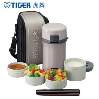 【TIGER 虎牌】3碗飯 不鏽鋼保溫飯盒 (LWU-F200)