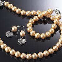 (小樂珠寶) 雙北市結婚珠寶獨家設計,高品質珠寶,全美正圓3A南洋深海貝珍珠套組多件超划算