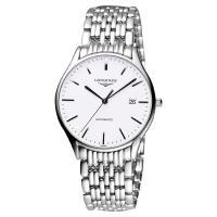 LONGINES 浪琴 Lyre 琴韻經典機械腕錶-白x銀/38mm L49604126