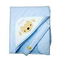 【優生】綿羊素色造型包巾-藍