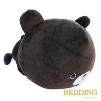 BEDDING - 超手感 Q 版可愛抱枕 趴姿大頭小熊 30cm