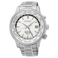 SEIKO精工 KINETIC 世界時間腕錶-銀/43mm 5M85-0AF0S(SUN067P1)
