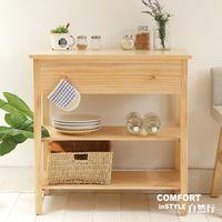CiS自然行實木家具 電器櫃-碗盤櫃-雜貨櫃-置物櫃W80cm(水洗白色)