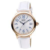 ORIENT 東方錶 花漾年華機械女錶-銀x玫塊金框x白/36mm WJFAC06002W