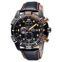ORIENT 東方錶 怒海爭峰霸氣三眼計時腕錶-黑/45mm WJFTT16003B