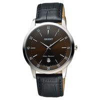 ORIENT 東方錶 SLIM系列城市時尚石英錶-咖啡x黑/39mm FUNG5003T
