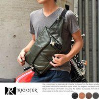 【TRICKSTER】日本品牌 斜背包 腳踏車包 腰包 A4 單肩背包 郵差包 掀蓋 都會潮流【tr100】